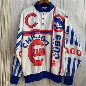 Vintage Rare Cubbies Starter All Over Print Jacket